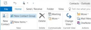 Add a new contact group in outlook