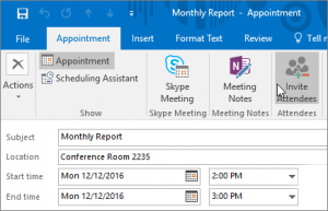 Schedule an appointment in Outlook