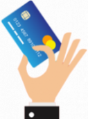 Hand holding credit card
